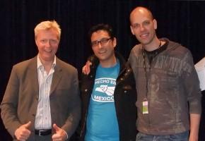 Anders Jalkéus de Real Group, José Galván de Voz en Punto y Jussi Chydenius de Rajaton
