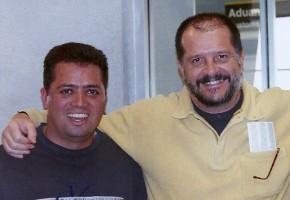 Luis con Eugenio Toussaint