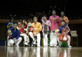 Voz en Punto con mario Iván Martínez, Alberto Cruz Prieto y los hermanos Villeda en el espectáculo Descubriendo a Cri Cri
