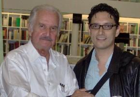 José con Carlos Fuentes