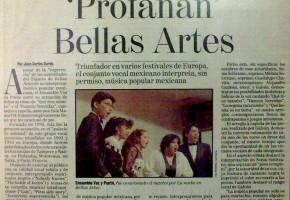 1994 - José, Lupita, Miriam, Sonia y Alejandro profanan Bellas Artes.